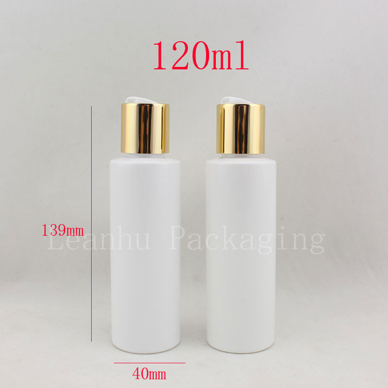 120ml empty white refillable plastic bottles,4oz aftershave cosmetic packaging bottles 120cc empty plastic shampoo bottle