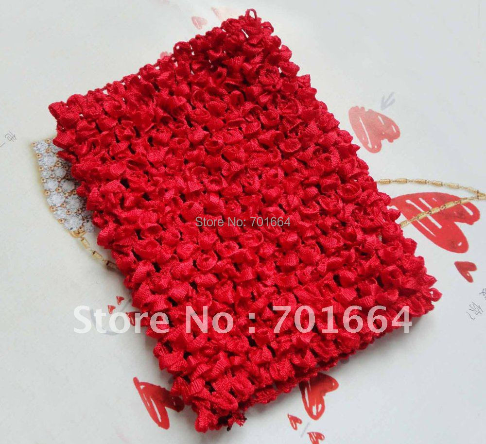 6PCS 4.5inches width hor red Elastic Crochet headbands for making waffle hats,BARGAIN for BULK(China (Mainland))