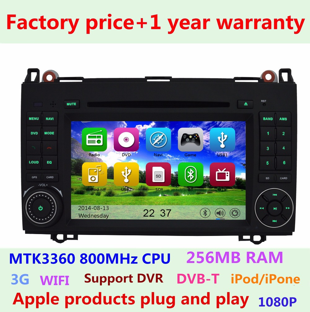 2 din Car DVD for For Mercedes Benz Viano Vito W169 W245 with Radio Bluetooth Ipod USB SD BT 3G WIFI GPS Navigation system(China (Mainland))