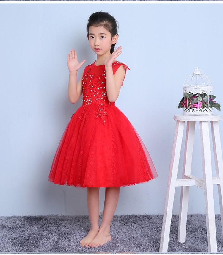 Скидки на Платье принцессы 2016 новые девушки театрализованное платье для празднования дня рождения peform кристалл рукавов бальное платье детские платья