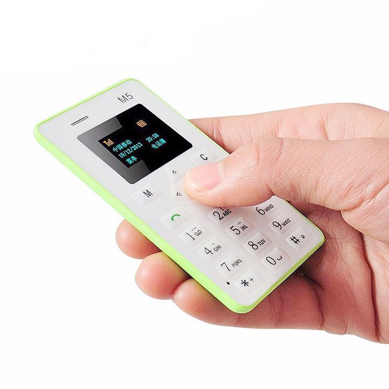 "2016 Original AEKU M5 1.0"" 480*320 Quad Band Kids Card Phone AIEK M5 4.5mm Ultra Thin Low Radiation Mini Students Cell Phone(China (Mainland))"