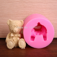 Cute Bear Silicone mold cake Tools Fondant Decorating kitchen accessories Free shipping