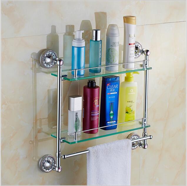 Badkamer hoekrek mooiste badkamer accessoires onder de euro makeover - Glas betegelde badkamer bad ...