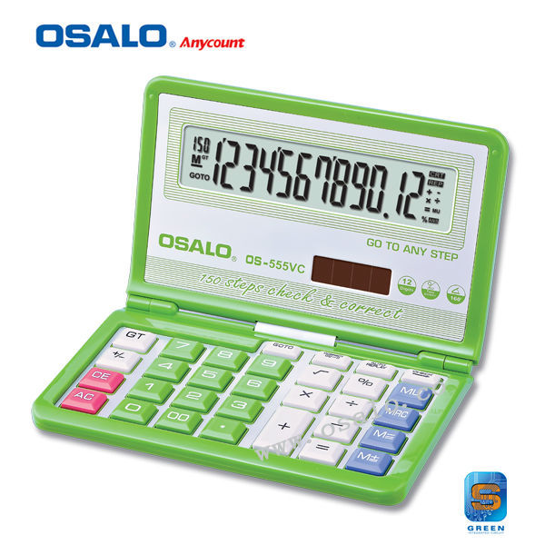 12 Digits Fold Electronic Calculator OS-555VC Calculadora Cientifica 150 Step Check Correct Big Display Calculator
