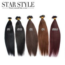 """star style hair best selling fashion cheap brazilian remy hair flat tip hair extensions 16"""" 18"""" 20"""" keratin hair extensions(China (Mainland))"""