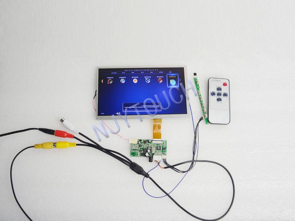 """Free Shipping AV+Remote LCD Controller Board+7"""" AT070TN07 26 Pin 480X234 LED Screen(China (Mainland))"""