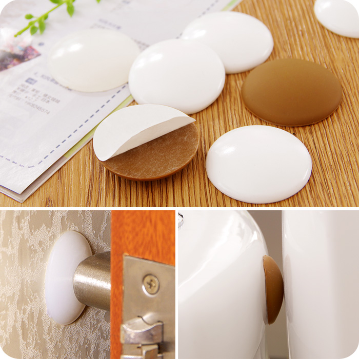 Door Knob Handle Stop Protector Self Adhesive Bumper Guard