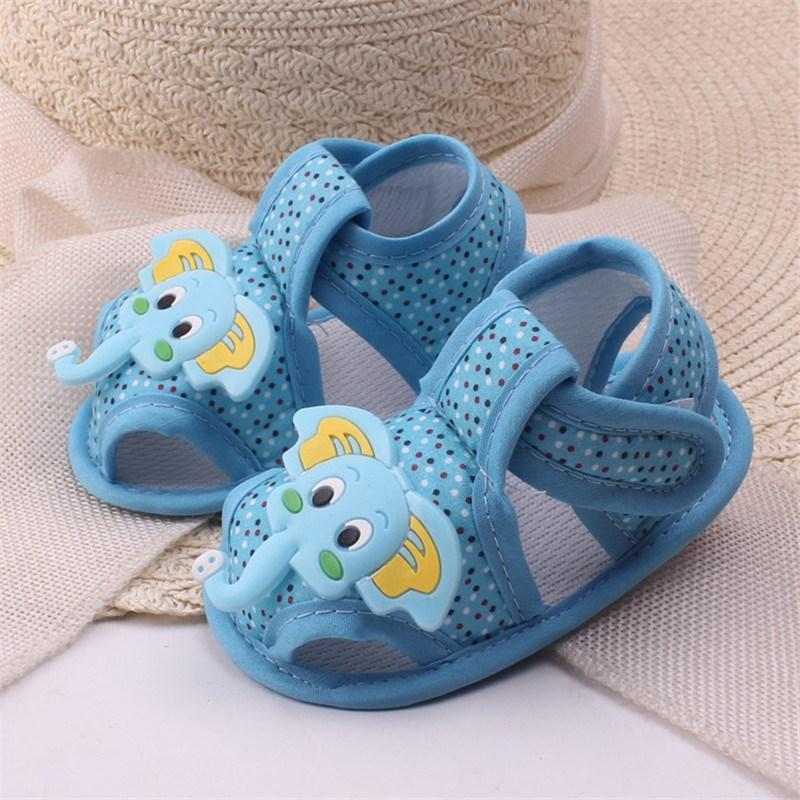 Toddler Shoes Skid-proof Baby Shoes Cartoon Elephants Prewalker First Walkers Infant Kids Baby Boy Girl Hook&Loop Crib Footwear(China (Mainland))