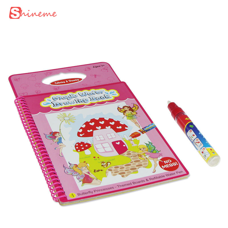 quality colorful book Magic Kids Water Drawing Board with 1 wonderful Pen Intimate Coloring Painting Boards gift for children(China (Mainland))