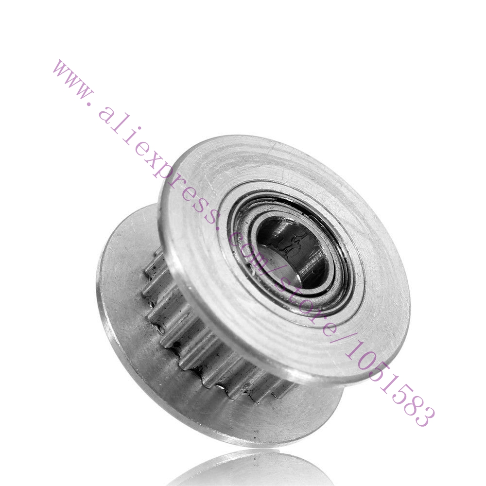 10pcs GT2 Timing Pulleys With bearing 3mm Bore 16Teeth H Shaped Synchronous Ilder pulley Wheel For