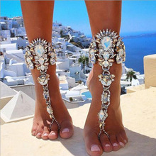 Buy Ankle Bracelet Wedding Barefoot Sandals Beach Foot Jewelry Sexy Leg Chain Luxury Crystal Anklet Women Girls Accessories for $6.92 in AliExpress store