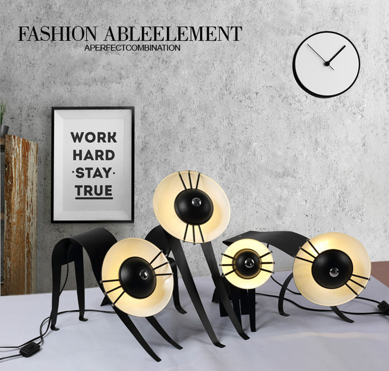 Modern Home Micha-Cat Table Lamp Art Cut Cat Studio Light Bed Light Cafe Shop Light Free Shipping Free Shipping(China (Mainland))
