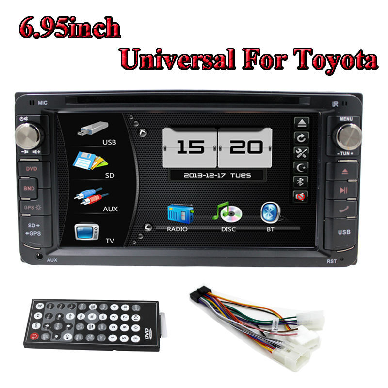 2 din 6.95inch Car DVD Player V-6958 GPS Navigator LCD touch Screen Stereo Bluetooth TV Fit For Toyota Carola 200*100mm(China (Mainland))