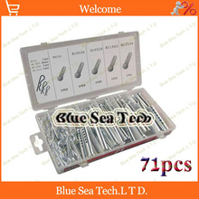 71pcs stud /seven-hole pin / R-type pin/7 pin hole,combination tools+box,Hardware tools Free Shipping