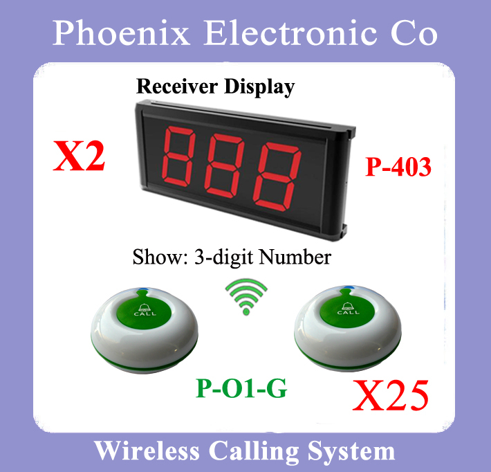 The Waiter Calling System For Equipment For Cafes,1 Display Receiver P-403 And 20 Waiter Button Dhl Free Shipping(China (Mainland))