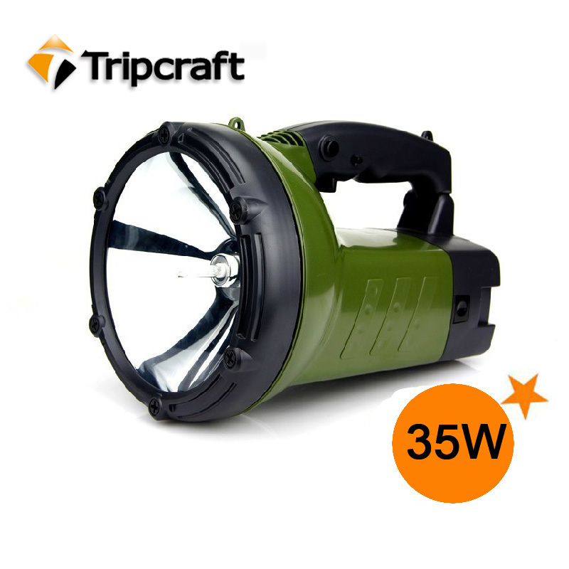 35W 12V spot beam Rechargeable battery HID OFFROAD LIGHT for hunting camping(China (Mainland))