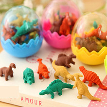 80 шт./лот = 10 яиц оптовая продажа ластик яйца динозавров мини-прекрасный динозавров ластик быстрая доставка лучшие подарки для детей