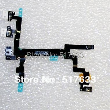 Power Button Switch On/Off Flex Cable Replacement Part for iPhone 5 5G, free shipping+track code(China (Mainland))
