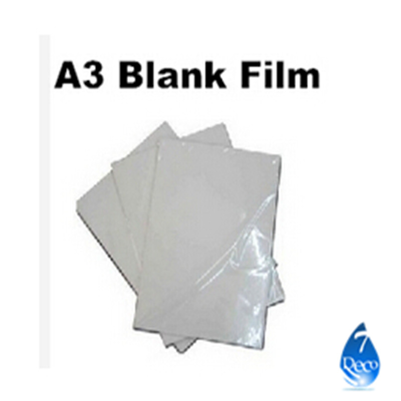 Free shipping 10pcs/lot Water Transfer Printing Film for Inkjet printer,A3 size hydrographic film, decorative material(China (Mainland))