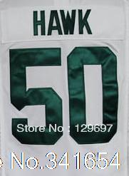Free Shipping #50 A.J. Hawk Men's Game Football Jersey,Embroidery and Sewing Logos,Size S--3XL(China (Mainland))