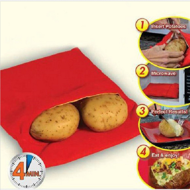 Free shipping/1pcsTime-limited Baking Tools For Cakes New Washable Cooker Bag Baked Potato Microwave Cooking Quick Fast MOMO-795(China (Mainland))