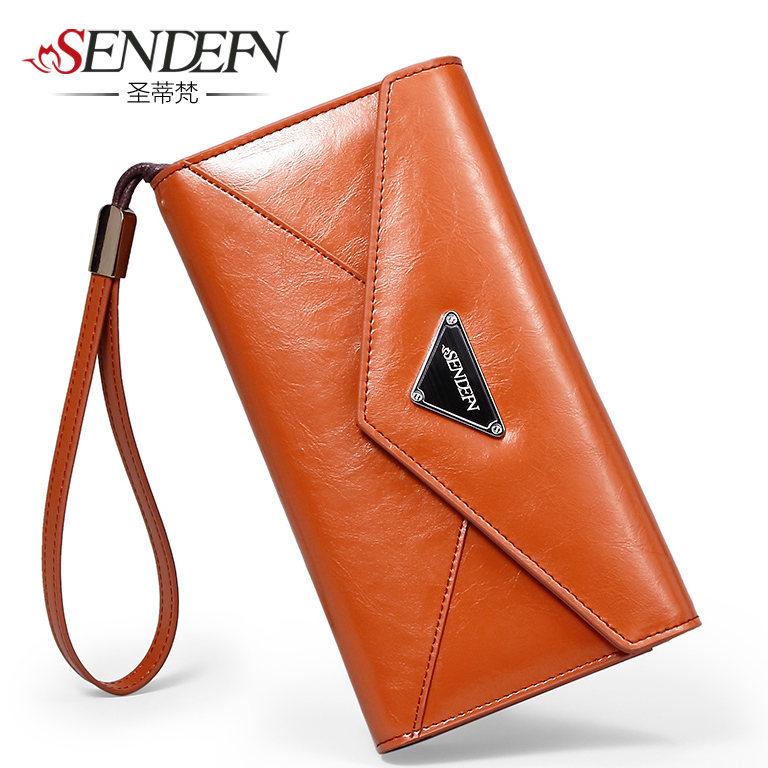 female long sandy and a Korean version of the new large capacity seventy percent off ladies leather hand wrapping clip(China (Mainland))