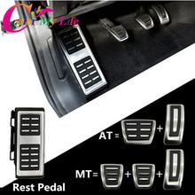 Car Pedals Cap Foot Rest Cover Accelerator Brake Clutch For VW Golf 7 GTi MK7 Seat Leon Octavia A7 Rapid Audi A3 8V Passat VIII(China (Mainland))