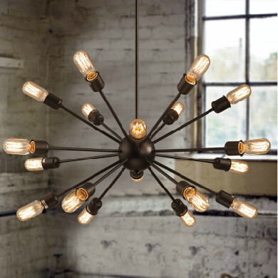 Buy vintage european style village multi satellite chandelie - Lustre multi ampoules ...