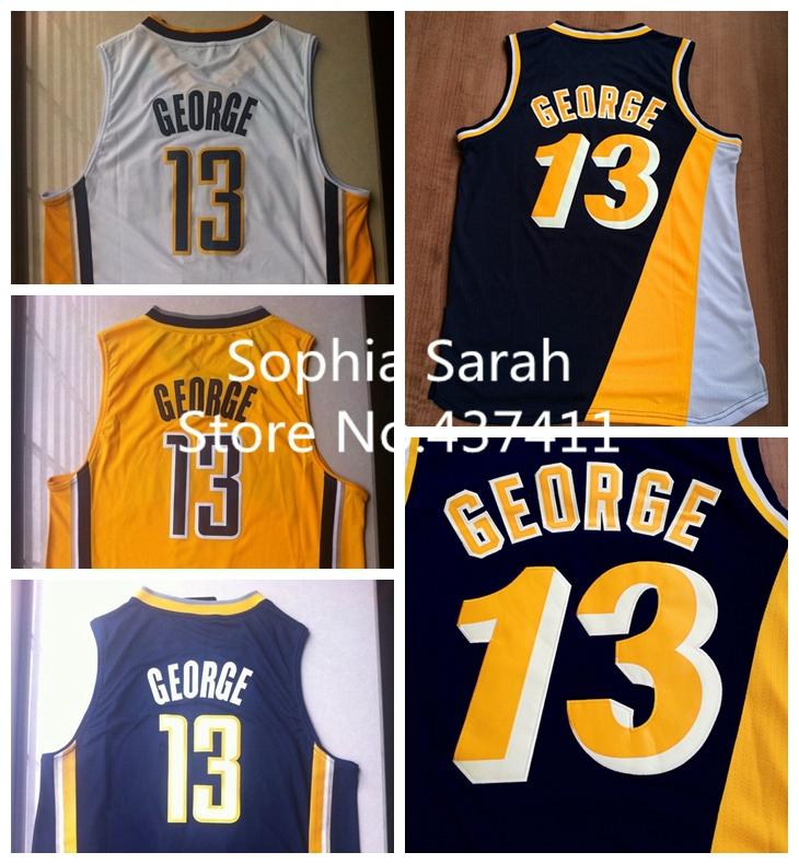 Гаджет  Free Shipping New Super Star Indiana #24 Paul George white yellow dark blue  REV 30  Brand Basketball jersey None Спорт и развлечения