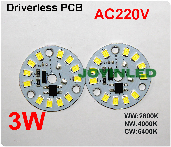220V 3w5W7w9w12w Dimmable spotlight integrated Driver 2835 led PCB for round bulb light led chip PCB assembly Ceiling down light(China (Mainland))
