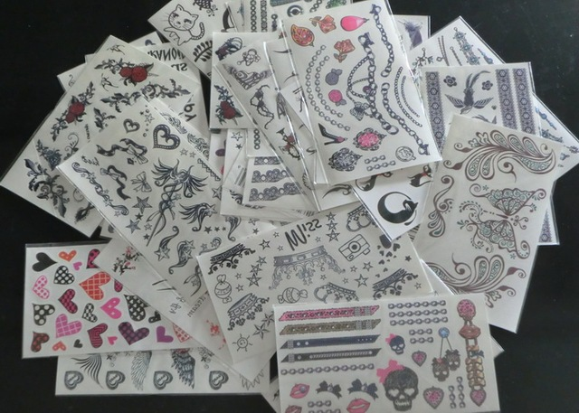 15Pcs Mixed Style Factory Supply Waterproof Temporary Tattoo Body Art Sticker for Decorative Use