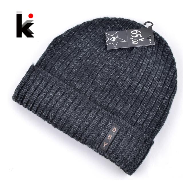2015 кепка мужская дизайнер шапки зимние шапочки вязаный шерстяной шляпа плюс бархат ...