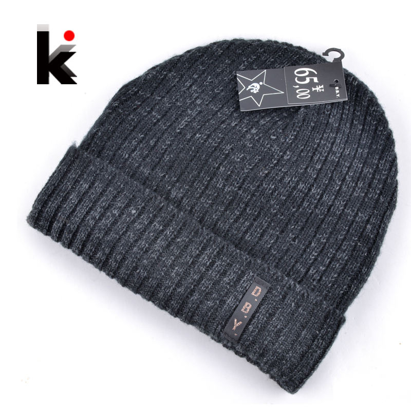 2016 mens designer hats bonnet winter beanie knitted wool hat plus velvet cap skullies Thicker mask Fringe beanies for men(China (Mainland))