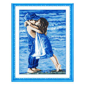 Needlework,DIY DMC Cross stitch,Sets For Embroidery kits,sea lovers home decro Counted Cross-Stitching,factory direct sale