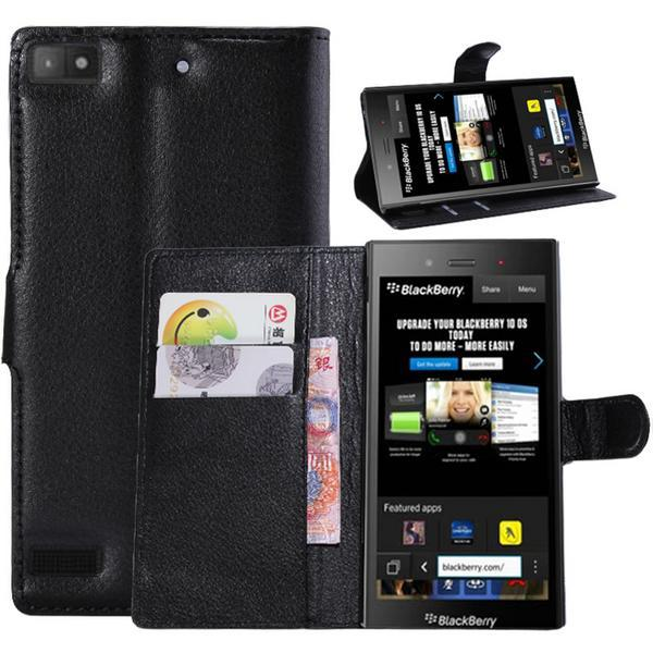 1 PC Book Style Wallet Stand PU Leather Flip Cases Cover For Blackberry Z3 Lichee Skin Mobile Phone Bag Free Shipping(China (Mainland))