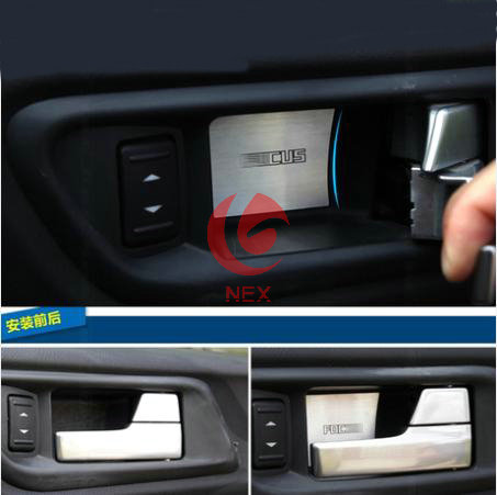 Buy stainless steel door handle cover bowl trim for ford focus 2 2006