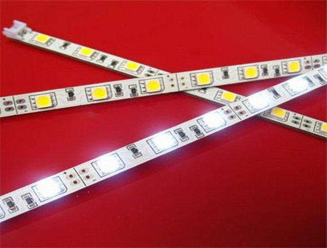 non-waterproof 5050 SMD LED Rigid strip light;30pcs led ;0.5m long;warm white