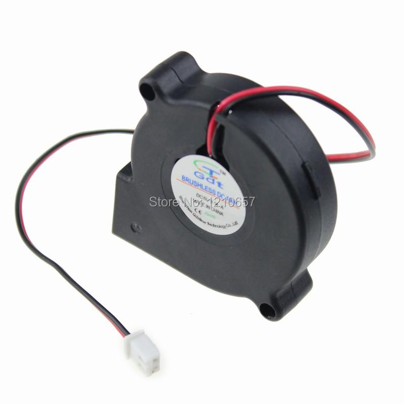 80 Шт. лот Бесщеточный Охлаждения Нагнетательный Вентилятор 2 Провода 5 В 5015 S 50 х 15 мм вентилятор напольный aeg vl 5569 s lb 80 вт