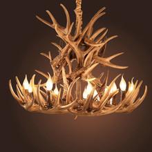 Hot Sale Brown Antlers Resin Lamp Modern Led Antler Chandelier Lustre Chandeliers E14 Vintage Lights Novelty Lighting(China (Mainland))