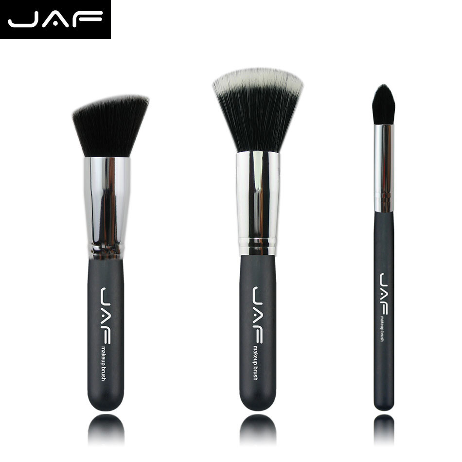 jaf brush set 3Pcs/set bb&cc makeup based brush powder fashion fiber eye powder brushes for face cosmetic star used(China (Mainland))