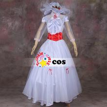 2015 halloween costumes for women Disnye Marry Poppins cosplay costume Marry Poppins white dress costumes for Adult women