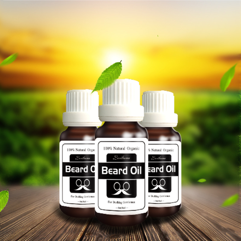 3 bottles treatment 100% Natural Beard care oil accelerate moustache hair serum facial hair grower products beard growth essence(China (Mainland))
