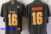 100% Stitiched,Tennessee Volunteers,Peyton Manning for youth,kids camouflage(China (Mainland))