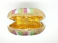 тайский дамы вечер слон сумочка полный кристалл жесткий мешок свадьба платье minaudiere стразами сцепление кошелек партии муфты