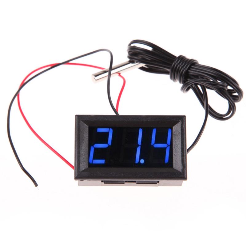 Гаджет  DC12V Digital Thermometer Temp 2m meter Probe -50~110C Temperature Detector NG4S None Инструменты
