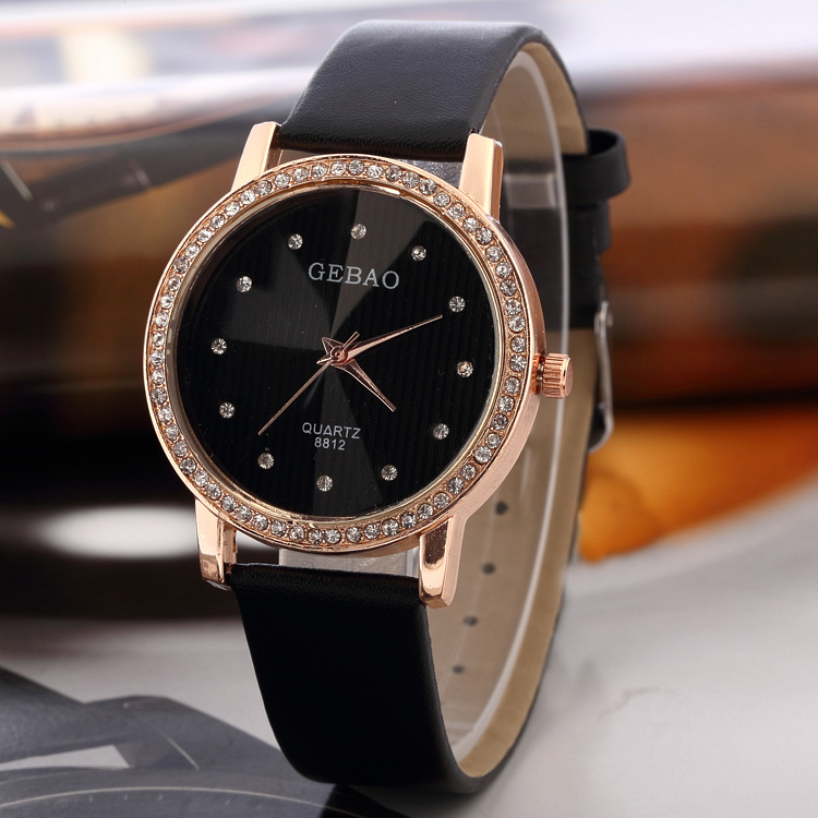 3FH18 Classic Simple Style quartz watches Women Wristwatches PU Leather Strap Matching 5 Colors - George Chinese watch factory store
