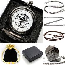 Heißer Verkauf Anime Fullmetal Alchemist Edward Taschenuhr mit Halskette & Ring Cosplay Requisiten(China (Mainland))