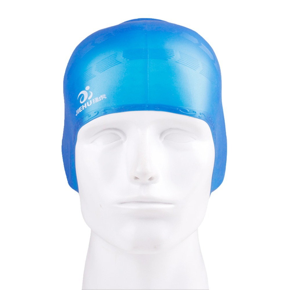 100% Pure Silicone Swim Caps With Ear Protection Waterproof Best Quality Adul Strech Swimming Caps Free Shipping(China (Mainland))
