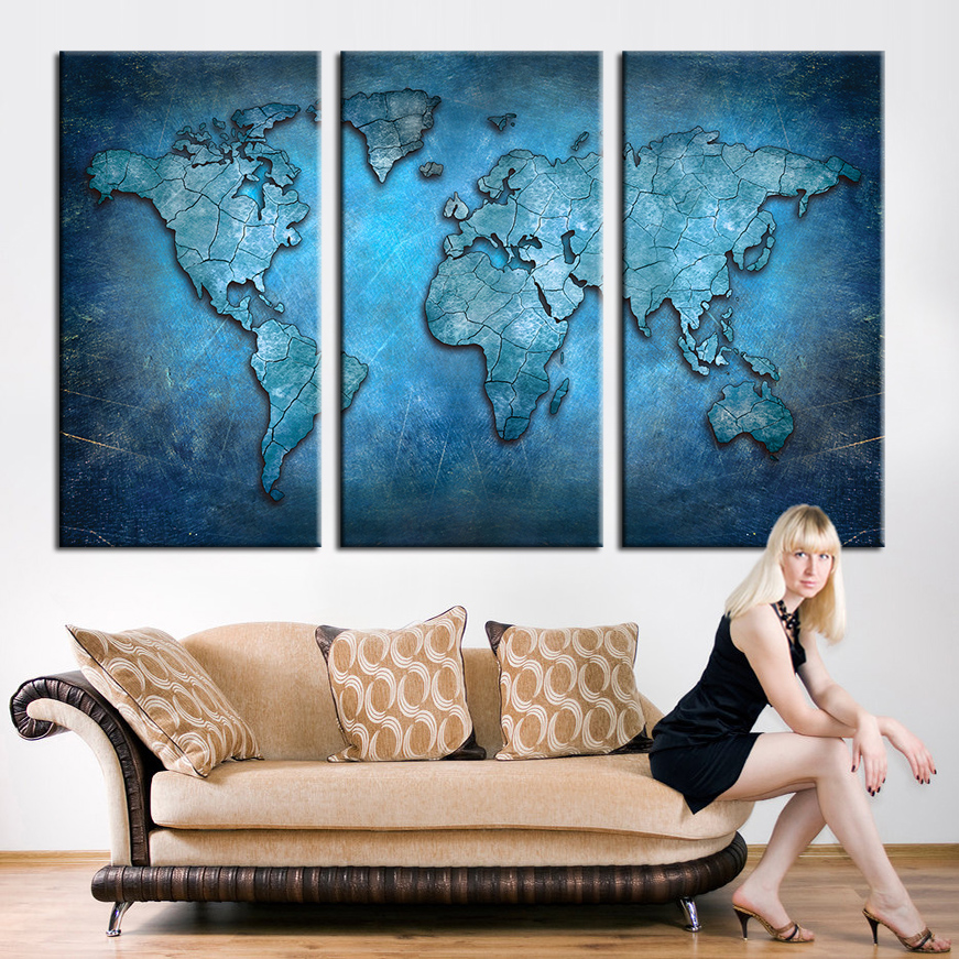 Buy large triptych wall art canvas world for Buy large canvas prints