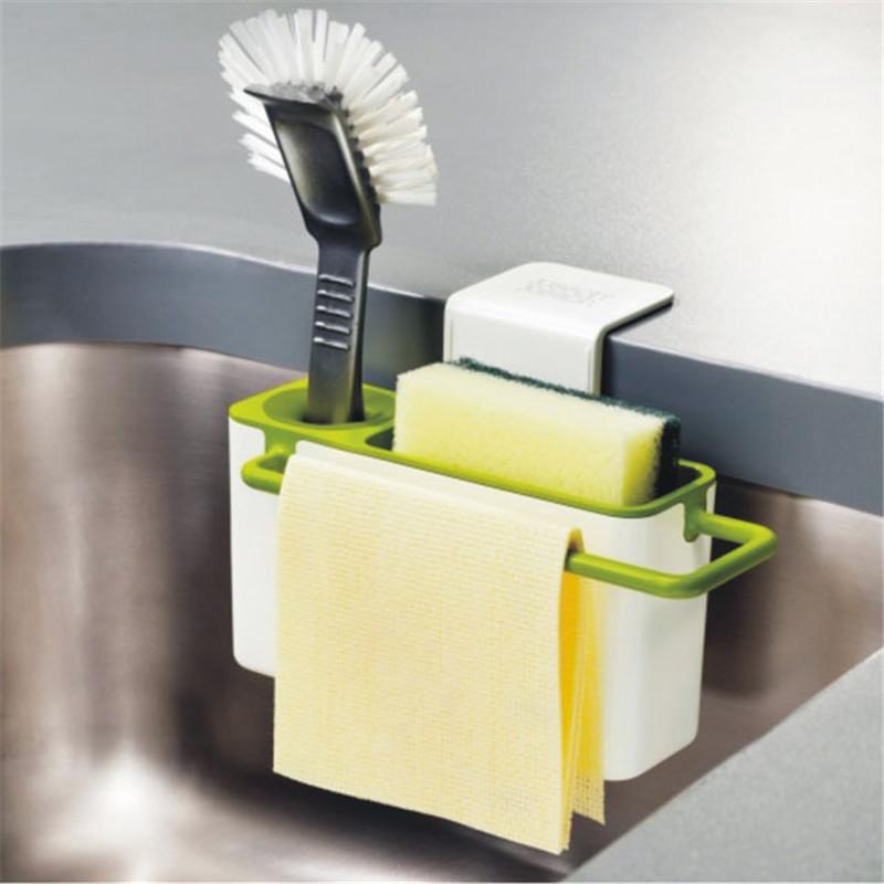 marvelous Kitchen Sink Brush #3: Kitchen Brush Sponge Suction Cup Sink Shelf Basket Sucker storage Cleaning  Cloth Towel rack Washing Holder